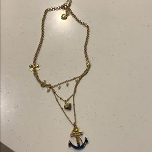 Betsy Johnson Anchor Necklace